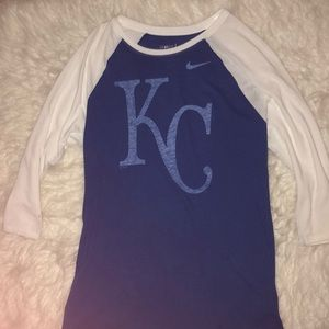 kansas city royals quarter sleeve top
